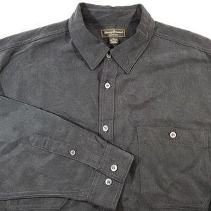 Tommy Bahama Island Soft 100% Tencel Black Shirt